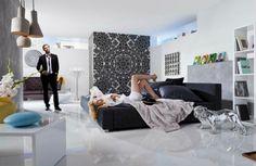 Fotobehang Komar Munich - Urban Structure  | Leef het leven van een artiest met Komar Urban Structure! Deze driedimensionale mandala laat u een ongewone compositie zien als u het van dichtbij bekijkt!