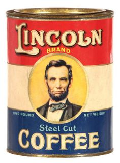 Lincoln Coffee Tin | Antique Advertising Value and Price Guide