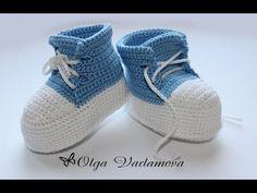 Авторские пинетки от Ольги Варламовой Crocheted sandals - YouTube