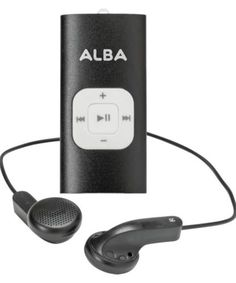 Alba-4GB-MP3-Music-Player-Black Mp3 Music Player, Landline Phone, Tech Accessories, Stuff To Buy, Shopping, Black, Argos, Polyvore, Material