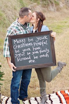 (big chalkboard messages) Christmas Couple Photo Session by ohsohappytogether, via Flickr