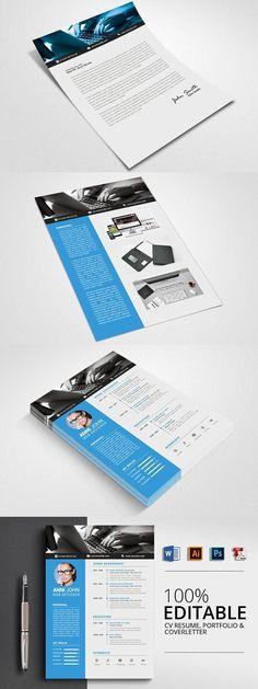 Futuristic Style Single Page CV - GraphicRiver Item for Sale   Self ...