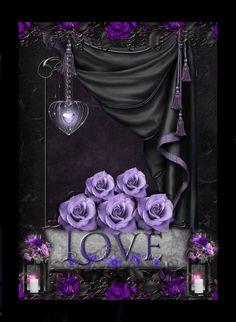 Love Purple Beach, Purple Art, Purple Love, All Things Purple, Shades Of Purple, Purple And Black, Purple Stuff, Black And Purple Wallpaper, Love Wallpaper