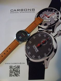Carbon8 RS CL on orange strap ...   www.carbon8.ch