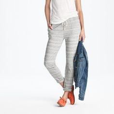 Almost a sweat pant, but cute enough to wear past the front door! J. Crew Pepper Pant