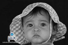 fotografía, retrato, bebe, sombrero, expresión