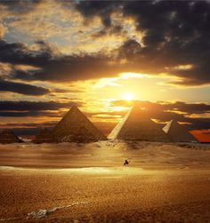 Pyramids of Egypt oil painting on canvas