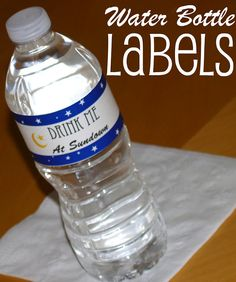 Ramadan Water Bottle Labels + Free Printables