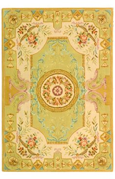 Safavieh French Tapis FT223A Soft Green Rug
