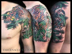 Japanese Traditional Tiger Half-sleeve Tattoo