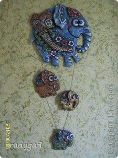 Поделка изделие Лепка Кот и Слон Тесто соленое фото 2