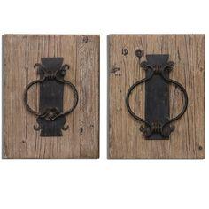 Rustic Door Knockers Wall Art S/2