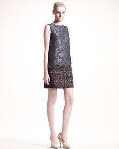 Lace/Tweed Dress by Dolce & Gabbana at Bergdorf Goodman.
