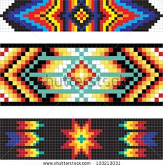 Native American Designs and Patterns | Traditional (native) American Indian pattern, vector - stock vector