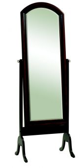 Tribeca Cheval Two-Tone Black Rubbed Finish with Beveled Mirror
