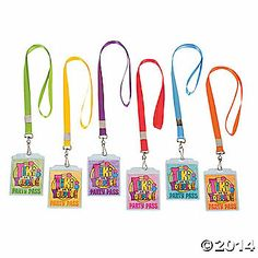 """Tiki Party"" Pass Lanyards"