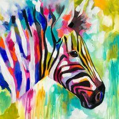 Amanda Brooks Art Acrylic Painting Inspiration, Zebra Art, Arte Pop, Colorful Paintings, Baby Art, Animal Design, Zebras, African Art, Pet Portraits