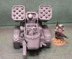 Created this Mini Weapons Battery Vehicle. It can use any turret style weapons. So you can put the Razerback turret, whirlwind turret, hyperios or any Warhammer Figures, Warhammer 40k, Space Marine, Scale Models, Marines, Tanks, Weapons, Exo, Miniatures