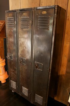 Vintage Industrial Lockers - strip old paint and wax.