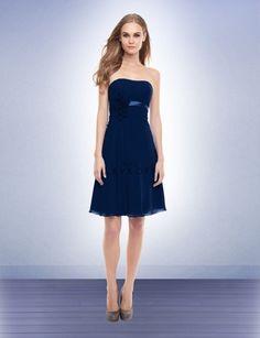 Navy Bridesmaid dress Bill Levkoff Style 151