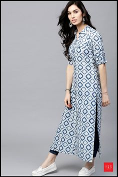 List Of 8 Different Types Of Denim Kurtis For Women Online #WomenFashion #WomenWear #Kurtis #DenimDress