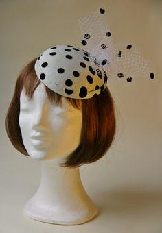 c98a8f3a00 Ozmonda Hat - dotted wedding hat Ozmonda Kalap Galéria - pöttyös  koktélkalap esküvőre #Ozmonda #