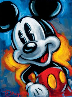 """Mickey"" by Tim Rogerson - Disney Fine Art"