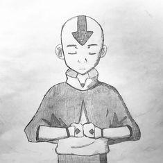 Avatar Aang, Avatar Legend Of Aang, Avatar The Last Airbender Art, Art Drawings Sketches Simple, Cute Drawings, Disney Drawings, Cartoon Drawings, Avatar Tattoo, Anime Character Drawing