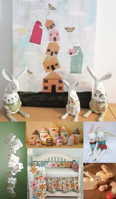 Sarah Ogren. Mixed Media Artist: Who Doesn't Like Flying Bunnies?