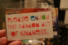 Random Acts of Kindness Cards {FREE Printable} | {So Wonderful, So Marvelous}