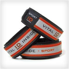 Runner's ID Bracelet. Contains emergency info in case anything happens.