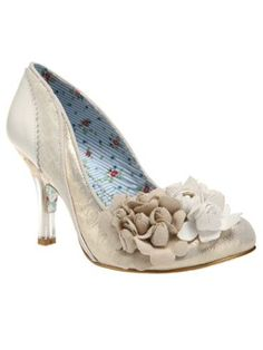 65ba99ce0d9a Irregular Choice Mrs Lower Ivory Gold Vintage Style High Heel Wedding Shoes  - Womens Ivory Ankle Boots   New Fashion Trainers