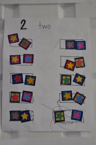 Number/counting sticker activity