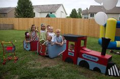 The Red Webs: Will's 2nd Birthday DIY Choo Choo Extravaganza