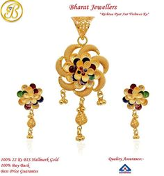 100% 22k #Hallmark #Gold #Jewellery from Bharat Jewellers!