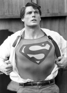 Christopher Reeve as Clark Kent.