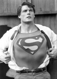 Christopher Reeve as Clark Kent.