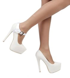 Correas para Zapatos Removibles - Para sujetar zapatos de taco alto flojos  (Blanco Saten) 75c880d097a1