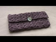 EASY crochet purse tutorial - how to crochet a clutch bag / purse / handbag - YouTube