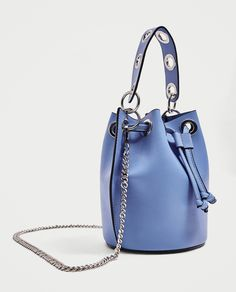 ZARA - WOMAN - MINI BUCKET BAG WITH EYELETS