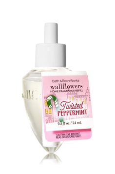 Twisted Peppermint - Wallflowers Fragrance Refill - Bath & Body Works - Fragrance that welcomes you home! Combine with your favorite Wallflowers Fragrance Plug, sold separately, to scent any room with noticeable fragrance for weeks and weeks.