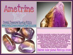 AMETRINE CRYSTAL MEANING PROPERTIES www.crystaltreasuresknowingwithin.com