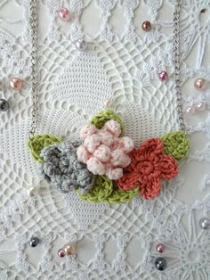 Little Treasures: Crochet Flower Necklaces- new additions to the shop