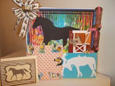 Gift Set for Horse Lover Owner 4H 12 x 12 by CathysCraftWorld