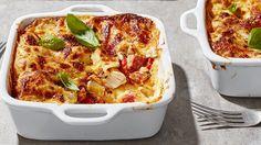 Image: Individual chicken and chorizo lasagnes
