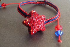 Red star friendship bracelet made by Embracelet by G&E check them out on Facebook!