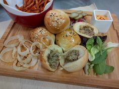 Steak and blue cheese doughballs