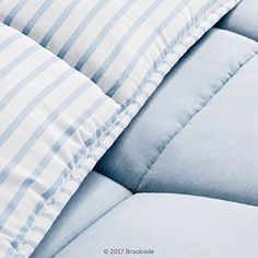 BROOKSIDE Striped Chambray Comforter Set – Includes 2 Pillow Shams – Reversible – Down Alternative – Hypoallergenic – All Season – Box Stitched Design – King – Calm Sea Blue . http://aluxurybed.com/product/brookside-striped-chambray-comforter-set-includes-2-pillow-shams-reversible-down-alternative-hypoallergenic-all-season-box-stitched-design-king-calm-sea-blue/