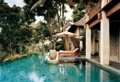 The Worlds Best Pools: The pool of the Bayugita pool within the COMO Shambhala Estate, Bali, hidden within the forests of Ubud. Ubud Hotels, Hotels And Resorts, Best Hotels, Jacuzzi, Beach Paradise, Tropical Paradise, Beach Babe, Porches, Bali Retreat