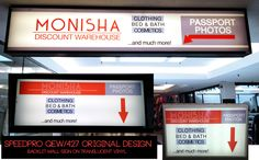 Great signage makes retail stores super easy to find. Check out Monisha at Central Parkway Mall in Mississauga!